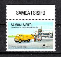 Samoa  Sisifo - 1974. Aeroporto. Carico Di Aereo. Airport. Plane Cargo.MNH - Verkehr & Transport