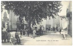 Cpa Saint Chamas - Place Du Petit Paris - France