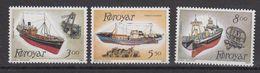Faroe Islands 1987 Fishing Ships 3v   ** Mnh (40288) - Faeroër