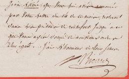 1795 Las Ricard Adjudant Commandant, Chef D'Etat Major Nantes Prison De Rochefort Prisonniers - Documentos Históricos