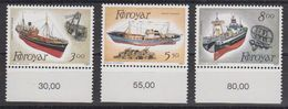 Faroe Islands 1987 Fishing Ships 3v (+margin)  ** Mnh (40288A) - Faeroër