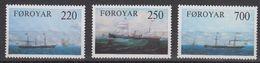 Faroe Islands 1983 Steam Ships 3v ** Mnh  (40288B) - Faeroër
