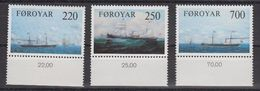 Faroe Islands 1983 Steam Ships 3v (+margin)  ** Mnh  (40288C) - Faeroër