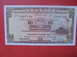 HONG KONG 5 $ UNC - Hong Kong