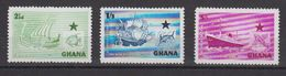 Ghana 1957 Black Star Line 3v ** Mnh (40288F) - Ghana (1957-...)