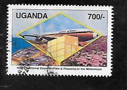 TIMBRE OBLITERE DE OUGNADA DE 2000 N° MICHEL 2286 - Ouganda (1962-...)