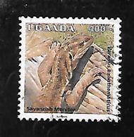 TIMBRE OBLITERE DE OUGNADA DE 1995 N° MICHEL 1539 - Ouganda (1962-...)