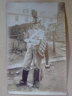 PHOTO  HUSSARD  ?  DRAGON   EN  GRANDE  TENUE  ( SABRE ) - Régiments