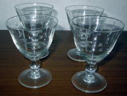 QUATTRO (4) BICCHIERI VINTAGE H 8,5 CM. - Glazen