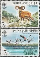 Cyprus 1986, Environment Protection, Mufflon, Flamingos (MNH, **) - Flamingo's