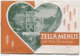Zella-Mehlis 1950 - 12 Seiten Mit 11 Abbildungen - Beiliegend Wohnungsliste - Reiseprospekte