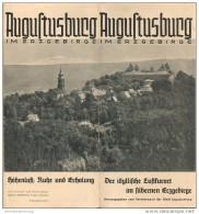 Augustusburg 1958 - Faltblatt Mit 10 Abbildungen - Beiliegend Wissenswertes - Reiseprospekte