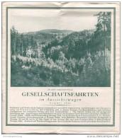 Die Schöne Vogtländische Schweiz - Gesellschaftsfahrten Im Aussichtswagen 1931 - 8 Seiten Mit 10 Abbildungen - Reiseprospekte