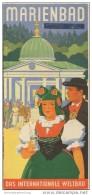 Marienbad 30er Jahre - Faltblatt Mit 10 Abbildungen - Reiseprospekte