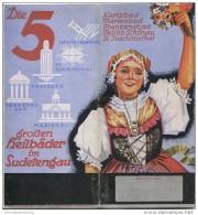 Die 5 Grossen Heilbäder Im Sudetengau 1939 - 14 Seiten Mit 14 Abbildungen - Reiseprospekte