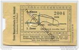 Tiroler Wasserkraftwerke AG Innsbruck - Achensee-Schiffahrt 1. Klasse - Fahrschein - Europa
