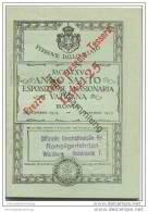 Persönliches Fahrscheinheft 1925 - Reisen Zwischen Rom Valle Di Pompei Assisi Und Loreto - Bahn