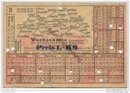 Fahrschein - Fahrkarte - Stadtwerke Potsdam - Abt. Verkehrsbetriebe - Wochenkarte Für Strassenbahn Und Omnibus - Strassenbahnen