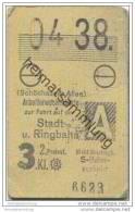 Berlin S-Bahn Fahrkarte - Arbeiterwochenkarte 04. 1938 - (Schönhauser Allee) Stadt- Und Ringbahn - 3. Klasse - Wochen- U. Monatsausweise