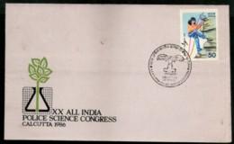 India 1986 All India Police Science Congress Calcutta Special Cover # 7015 - Police - Gendarmerie