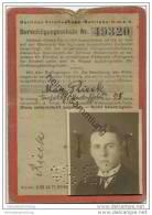 Berlin - Berliner Strassenbahn-Betriebs-GmbH - Berechtigungsschein 1927 - 1931 - Fahrkarte - Wochen- U. Monatsausweise