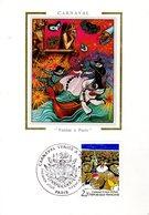 """"""" CARNAVAL """" Sur Carte Maximum En Soie De 1986. N° YT 2395. Parfait état. CM - Carnival"""