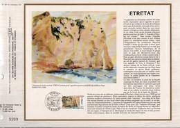 1987 DOCUMENT FDC ETRETAT SEINE MARITIME - Documents De La Poste