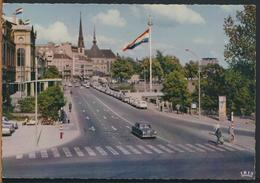 °°° 11380 - LUXEMBOURG - BOULEVARD ROOSEVELT ET CATHEDRALE - 1964 With Stamps °°° - Lussemburgo - Città