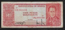 Bolivie - 100 Pesos  - Pick N° 164 - TB - Bolivie