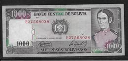 Bolivie - 1000 Pesos  - Pick N° 167 - SUP - Bolivia
