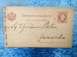 ZARAVECCHIA    BIOGRAD    1879.   CORRESPONDENZ KARTE - Kroatien