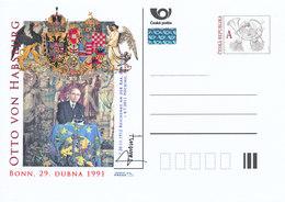 Rep. Ceca / Cart. Postali (Pre2011/32) Otto Von Habsburg (1912-2011), Bonn - 29 Aprile 1991 - Idee Europee