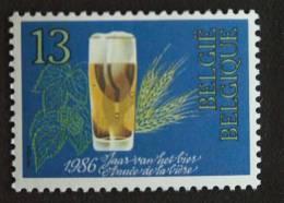 België Belgique 1986 Glas Bier Gerst Hop Verre De Bière Orge Houblon Beer 2230 MNH ** - Neufs