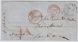 1855, Altona Nach London  ,  #a923 - Schleswig-Holstein