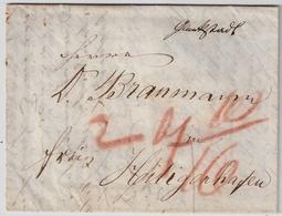 """1845, Hs. """" Glückstadt """"  ,  #a924 - Schleswig-Holstein"""
