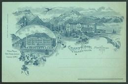 SUISSE VILLARS S/ OLLON ( VAUD)  PRECURSEUR...STYLE NUAGE..GRAND HOTEL...LIFT...HIRONDELLE...C2868 - VD Vaud