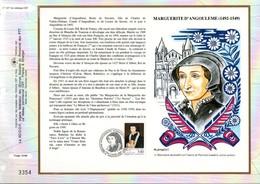 1992 DOCUMENT FDC MARGUERITE D'ANGOULEME - Documents De La Poste