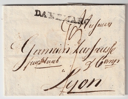 1805, Glückstadt, Transit-Stp., Forwarded  ,  #a925 - Schleswig-Holstein