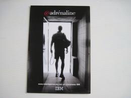 CPM    SPORT TENNIS ROLAND GARROS PUB IBM ADRENALINE T.B.E. - Publicité