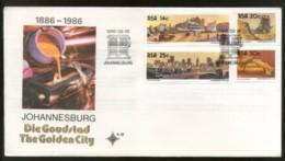 South Africa 1986 Johannesburg Golden City Gold Mine Minerals FDC # 16271 - Minerals