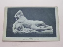 FAUN Staty I Marmor Av J. T. Sergel (1774) ( A. B. Lagrelius & Westphal )  Anno 19?? ( Zie Foto Voor Details ) ! - Suède