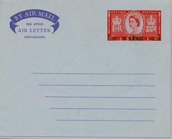 1954 - 1956 , OMAN - MUSCAT Nº 4,5 , AEROGRAMAS NUEVOS SIN CIRCULAR, SOBRECARGADOS 6 ANNAS - Omán