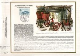 1989 DOCUMENT FDC JOURNEE DU TIMBRE DILIGENCE PARIS-LYON - Documents Of Postal Services