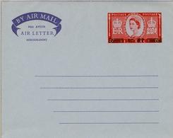 1957 , OMAN - MUSCAT Nº 8 , AEROGRAMA NUEVO SIN CIRCULAR, SOBRECARGADOS 40 NP - Omán