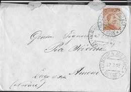 STORIA POSTALE REGNO - ANNULLO OBLITERATORE CENSURA MILITARE/ NOVARA 27.07.1918 SU BUSTA - 1900-44 Vittorio Emanuele III