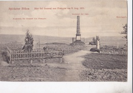 SPICHERER HOHEN - HIER FIEL GENERAL VON FRANCOIS AM 6 AUG. 1870    VG   AUTENTICA 100% - Francia