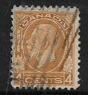 Canada, George V, 1932, 4 Cents, Yellow-brown, Used - 1911-1935 Reign Of George V