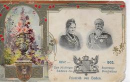 AK 0019  Friedrich Von Baden - 50 Järiges Jubiläum Des Regierungs-Grossherzogs  1852 - 1902 - Politische Und Militärische Männer