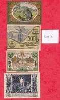 Allemagne 9 Notgeld Dans L 'état  (PORT GRATUIT POUR LA FRANCE) Lot N °2 - [ 3] 1918-1933 : Weimar Republic
