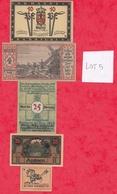 Allemagne 9 Notgeld Dans L 'état  (PORT GRATUIT POUR LA FRANCE) Lot N °3 - [ 3] 1918-1933 : Weimar Republic